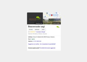 Google My Business: per far comparire la vostra azienda tra i risultati di ricerca, comunicare i vostri orari di apertura e tante altre informazioni.